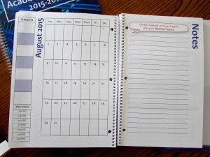 Write in your subjects and activities once on the left, and they line up with each day's pages!