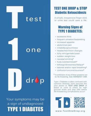 test one drop t1d